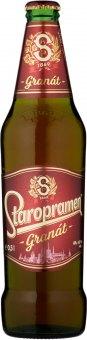 Pivo polotmavý ležák Granát Staropramen