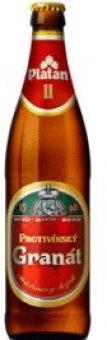 Pivo polotmavý ležák Protivínský Granát Platan