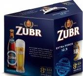 Pivo světlý ležák 12,5° Extra Force Pivovar Zubr