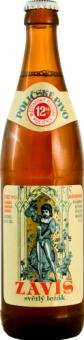 Pivo světlý ležák 12° Záviš Pivovar Polička