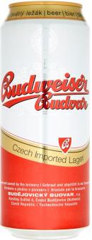 Pivo světlý ležák Budweiser Budvar