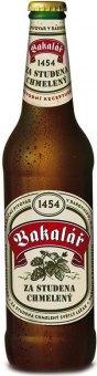 Pivo světlý ležák za studena chmelený Bakalář