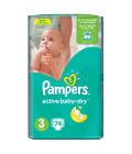 Pleny dětské Pampers Active Baby Dry