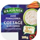 Pomazánka Cottage jarní zelenina Krajánek