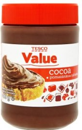 Kakaová pomazánka Tesco Value