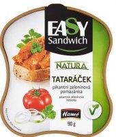 Pomazánka pikantní zeleninová Tataráček Natura Easy Sandwich Hamé