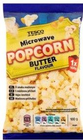 Popcorn do mikrovlnky Tesco