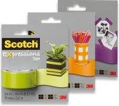 Popisovatelná barevná lepící páska Expressions Tape Scotch