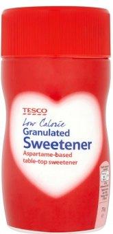 Sladidlo na bázi aspartamu Tesco