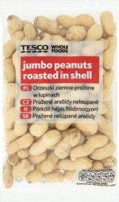 Pražené arašídy neloupané Tesco
