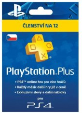 Předplacená karta PlayStation Plus Card PS4 Sony