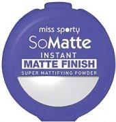Pudr matující So Matte Instant Matte Finish Miss Sporty