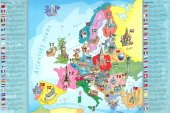 Puzzle Mapa Evropy Trefl