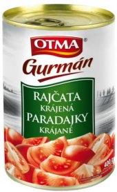 Rajčata loupaná krájená Gurmán Otma
