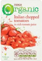 Rajčata sekaná bio Tesco Organic