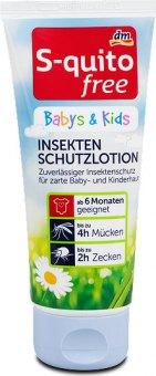 Repelentní emulze proti hmyzu Baby & Kids free S-quito