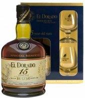 Rum 15 YO El Dorado - dárkové balení