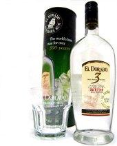Rum 3 YO El Dorado - dárkové balení