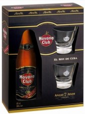 Rum kubánský 7 letý Havana club - dárkové balení