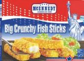 Rybí tyčinky filé z aljašské tresky mražené Mcennedy