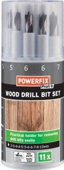 Sada vrtáku na dřevo Powerfix