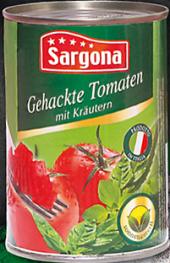 Rajčata sekaná Sargona