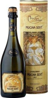 Sekt Chardonnay Mucha Zámecké vinařství Bzenec