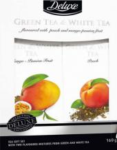 Směs aromatizovaného zeleného a bílého čaje Deluxe