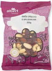 Směs ořechů s brusinkami Albert