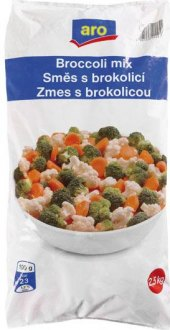 Směs s brokolicí mražená Aro