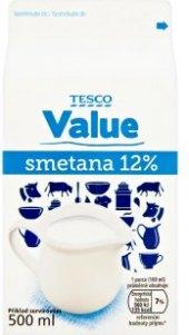 Smetana Tesco Value 10%