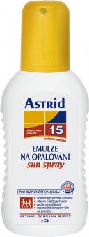 Sprej na opalování OF 15 Astrid