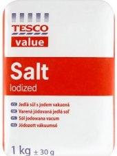 Sůl jedlá s jódem Tesco
