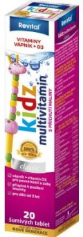 Šumivé tablety dětské Kidz Revital