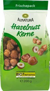 Lískové ořechy sušené Alnatura
