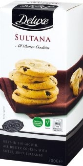 Sušenky máslové s rozinkami Deluxe