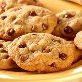 Sušenky s kousky čokolády