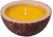 Svíčka v kůře ve tvaru misky Citronella