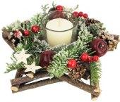 Svíčka vánoční se svícnem