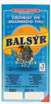 Sýr Balsýr Mlékárna Žirovnice