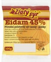 Sýr Eidam uzený 45% Zlatý sýr Milkpol