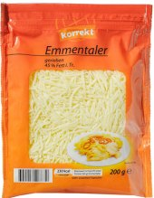 Sýr Ementál strouhaný Korrekt