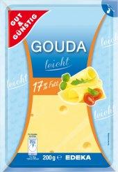 Sýr Gouda Leicht 17% Gut&Günstig Edeka