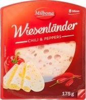 Sýr plnotučný s chilli a paprikou Wiesenländer Milbona