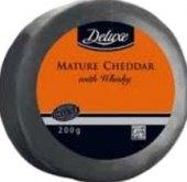 Sýr Čedar plnotučný s whisky Deluxe