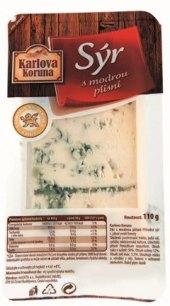 Sýr s modrou plísní Karlova Koruna