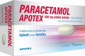 Tablety na horečku a bolest Paracetamol Apotex