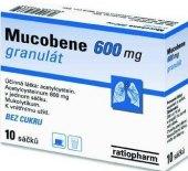 Rozpustné tablety na onemocnění dýchacích cest Mucobene