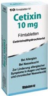 Tablety proti alergii Cetixin