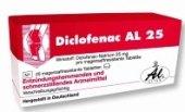 Tablety proti bolesti Diclofenac Al